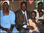 Abraham Deng and his family